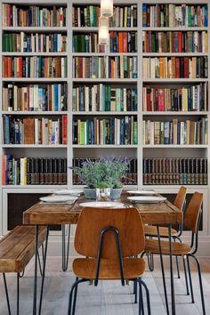 Elgin crescent - ben wilson bookshelf styling home library d Home Library Decor, Library Room, Home Libraries, Library Design, Home Decor, Library Ideas, World Of Interiors, Bookshelf Styling, Bookshelves
