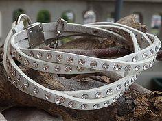 Cintura in pelle bianca di nozze. Cintura di swarovski nuziale. Cintura sottile in pelle multistrato. Cintura di strass. Cintura donna in pelle. Cintura in pelle stretta