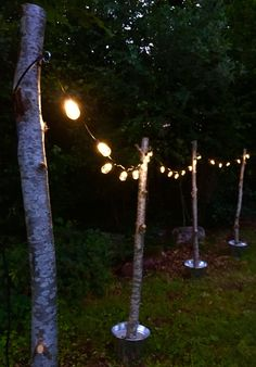 If you're on Pinterest and you like outdoor lighting ideas you've probably seen the string light poles with concrete bases. I fell in love with them and decided to make my own version.