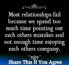 Most relationship fail because