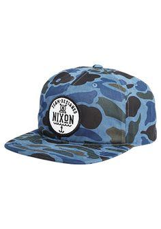 Series Snap Back Hat - Blue Camo   Nixon Mens Hats