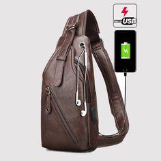 242d66399e04 US  21.81 - Outdoor Shoulder USB Charging Port Chest Bag Sling Bag Travel  Daypack Crossbody