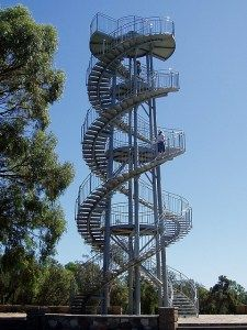 Double helix lookout tower, Perth, Western Austalia. Creative Commons, amandabhslater, 2009