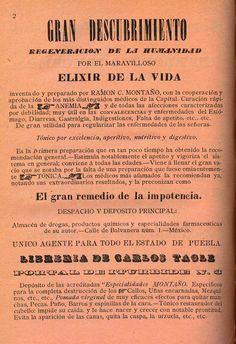 Elixir de la vida. Primer almanaque histórico y directorio general de Puebla / por Luis F. Covarrubias ; ed. Ben. (R)/529.4 ALM.c.896. Colección de Calendarios Mexicanos del Siglo XIX. Fondo Antiguo. Biblioteca del Instituto Mora, México. Life elixir. First historical almanac and general directory of Puebla / by Luis F. Covarrubias; Ed. Ben. (R) /529.4 ALM.c.896. Collection of Mexican Calendars of the 19th Century. Old Background. Library of the Mora Institute, Mexico.