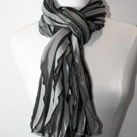 Striped Pleated Scarf... More Colors