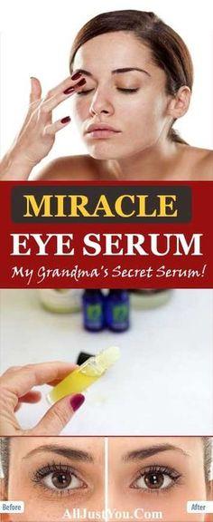 HOMEMADE EYE SERUM FOR WRINKLES & FINE LINES - #eye #serum #beauty #homemade