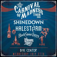Tulsa OK! It's your turn for the Carnival of Madness at @BOKCenter with @Shinedown! Who's going to the show?! #Shinedown #CarnivalofMadness Show info: http://ift.tt/2a9sRgm   via Instagram http://ift.tt/2awI66u  Shinedown Zach Myers