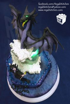 Maleficent's Transformation to Black Dragon Cake.  I'm making this for my OWN birthday!!