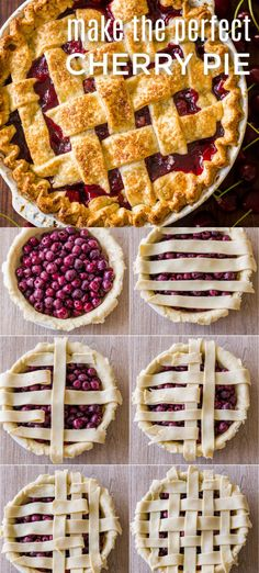 How to make the perfect Cherry Pie with an easy Lattice Pie Crust! There's nothing like a Homemade Cherry Pie bubbling through a rich, flaky buttery crust. Learn how to make a cherry pie from scratch. Tupperware, Banoffee Pie, Chefs, Lattice Pie Crust, Sweet & Easy, Homemade Cherry Pies, Vegan Pie Crust, Delicious Desserts, Dessert Recipes