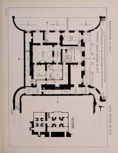 Le Petit Trianon, plan of the ground floor.