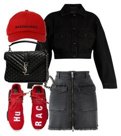 """Untitled #1876"" by emmastrouse ❤ liked on Polyvore featuring Raiine, Yves Saint Laurent, adidas and Balenciaga"