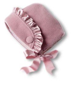 beautiful rose wool bonnet by A. Anachini Italy