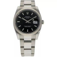 Rolex Date 34 ref. 115234 (D+P - Spiegelgracht Juweliers Vintage Watches For Men, Vintage Rolex, Luxury Watches, Rolex Watches, Amsterdam Shopping, Rolex Date, Best Model, Omega Watch, Vintage Jewelry