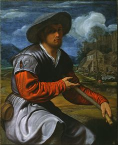Shepherd with a Flute; Giovanni Girolamo Savoldo (Italian (Lombard), active about 1480 - after 1548); about 1525