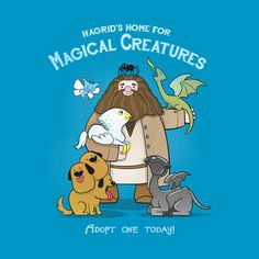 """""""Hagrid's Home for Magical Creatures"""" : // By: Anna-Maria Jung // Harry Potter Classe Harry Potter, Theme Harry Potter, Harry Potter Merchandise, Harry Potter Books, Harry Potter Love, Harry Potter Universal, Ravenclaw, Hufflepuff Pride, Magical Creatures Harry Potter"""