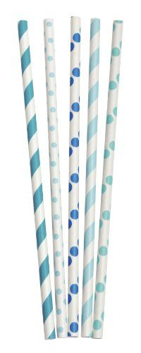 Party Partners Design Retro Dots and Stripes Paper Straws, Blue/Green, 25 Count Party Partners Design http://smile.amazon.com/dp/B00D1I60B6/ref=cm_sw_r_pi_dp_pBhkub1D04XAF