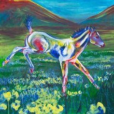"""FanciFoal"" Acrylic on Canvas http://melissaburgher.com/"