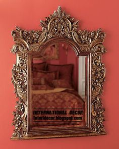Classic mirror frames golden for wall decorating