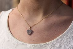 Wood Heart Necklace by diamentdesigns on Etsy