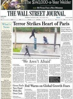 wall street journal Charlie Hebdo, New Paris, Wall Street Journal, News, Face, January 8, Faces, Facial