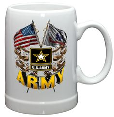 "Checkout our #LicensedGear products FREE SHIPPING + 10% OFF Coupon Code ""Official"" Army Double Flag Us Army Glassware - Army Double Flag Us Army - Price: $9.99. Buy now at https://officiallylicensedgear.com/army-double-flag-us-army-glassware"