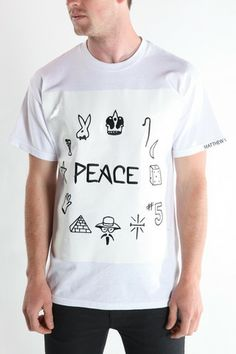 Peace, BeenTrill, Been Trill Clothing, Matthew Williams, Machus, portland Men's clothing, Machus clothing, HBA – machus