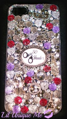 custom made bespoke phone case catches anyones eye with the amount of bling on this!!all my cases are handmade by myself at www.liluniqueme.com #fsog #jamiedornan #bling #fiftyshades #fiftyshadesofgrey #love #books #kinky #latersbaby #vanilla #charlietango #blingcase