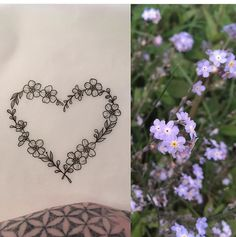 Forget Me Not Heart Tattoo by Medusa Lou Tattoo Artist - medusaloux@outlook.com