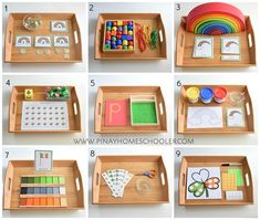 Montessori Inspired Trays for St. Patrick's Day St Patrick's Day Montessori Inspired activities Montessori Playroom, Montessori Preschool, Montessori Education, Preschool Activities, Montessori Elementary, Art Education, Earth Science Activities, Dinosaur Activities, History Education