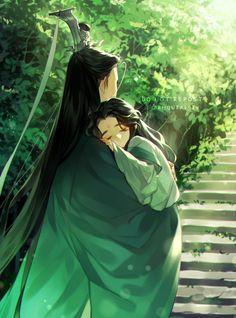 """[커미션]😷하르모니아(BAD NIA)🐰 on Twitter: """"빙경단 낙인 빼먹어서 재업😂😂😂 #人渣反派自救系统… """" System Wallpaper, Fantasy Art Men, Great Novels, Fanart, Shounen Ai, Light Novel, The Villain, Chinese Art, Asian Art"""