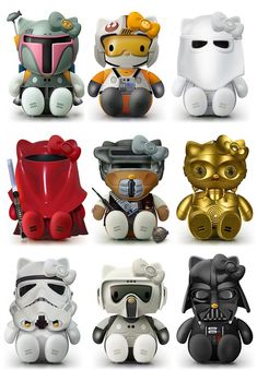 Star Wars Hello Kitty Model Kit!! Cute!! :-)