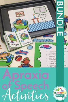 The Interactive Apraxia Activities Value Bundle offers a creative and engaging way to elicit multiple repetitions of targets with children with apraxia. Speech Therapy Activities, Speech Language Therapy, Language Activities, Speech And Language, Childhood Apraxia Of Speech, Speech Room, Writing Lessons, Preschool Kindergarten, Fun Learning