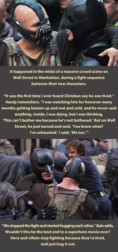 Should have ended like this . . .then I would have been more of a batman fan.