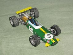 F1 Paper Model - 1968 Brabham BT26 Paper Car Free Template Download