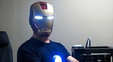 3D Printed Iron Man Helmet Opens And Closes Through Nodding Of Your Head