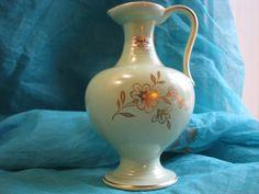 Vintage Vase – Jasba No. 524 – labelled – Mint Green Glaze and Real Gold Decor – Fifties – 1950s – Mid Century – WGP – pre Fat Lava von everglaze auf Etsy