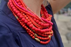 Coral and wood -- love these colors