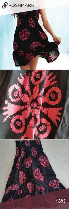 Victoria's secret strapless smocked dress Victoria's secret strapless smocked dress by Moda International.  Worn twice. Tags cut out.  100 percent cotton.  Lined.  Empire waist with ruffle hem Victoria's Secret Dresses Midi