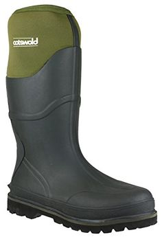 Cotswold Cotswold Mens Ranger Neoprene Expandable Welly Wellington Boot Green Green Rubber UK Size 12 EU 47 *** You can get additional details at the image link.