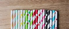 Paper straws of all sorts! #paperstraws #partysupplies