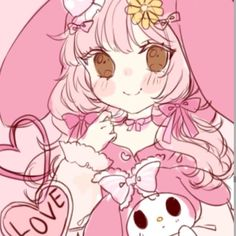 Shared by fu. Find images and videos about sanrio, my melody and matching avi on We Heart It - the app to get lost in what you love. Kawaii Art, Kawaii Anime, Aesthetic Anime, Aesthetic Art, Anime Chibi, Anime Art, Character Art, Character Design, Hello Kitty
