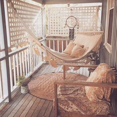 I wonder if we could hang a hammock on the back porch that we could easily unhook and hang up and away when not in use??