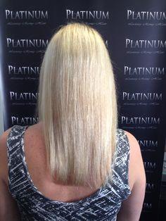 Jessica's before Platinum Hair Extensions, Keratin Hair Extensions, Crochet Necklace, Crochet Collar