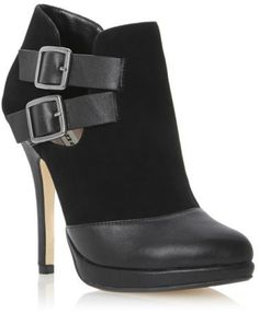 Dune New Ladies Nelly Black Womens Leather Stiletto Ankle Boot Shoes Size 3-8 Uk - ShopStyle