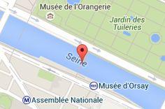 Passerelle Léopold-Sédar-Senghor: carte