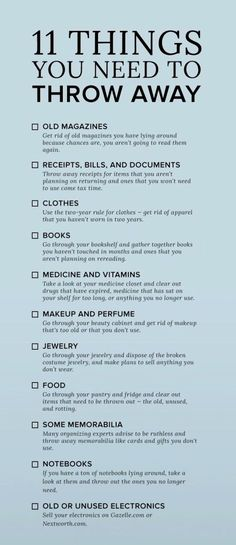 It's so easy to accumulate clutter in items we buy or receive as gifts. This list can help reduce your clutter by listing some of the top things people overlook when cleaning out their house. Household Cleaning Tips, Cleaning Checklist, House Cleaning Tips, Diy Cleaning Products, Cleaning Solutions, Spring Cleaning, Cleaning Hacks, Cleaning Calendar, Cleaning Quotes