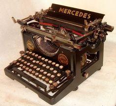 1911 RARE MERCEDES 3 TYPEWRITER WORKING GOOD CONDITION KOENIGSBERG GERMANY WW2