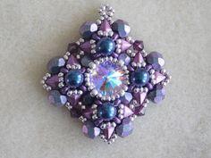 Beading Tutorial Pendant with diamonduo Bracelet Earring Pattern by poetryinbeads