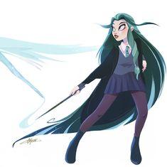 Arte Do Harry Potter, Harry Potter Drawings, Cartoon Styles, Cartoon Art, Slytherin, Character Inspiration, Character Art, Evvi Art, Alice In Wonderland Drawings