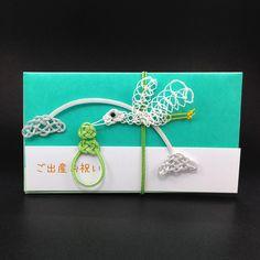 ハンドメイドマーケット minne(ミンネ)| 【ヨコ型】幸せ運ぶコウノトリのご祝儀袋
